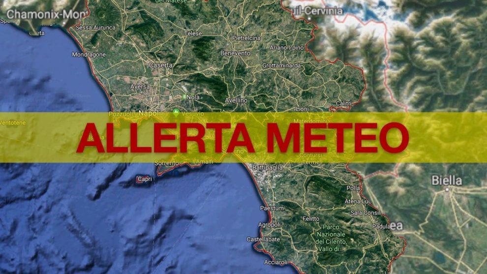 """Allerta Meteo """"Giallo"""" – dalle 10.00 alle 18.00 di mercoledi 10 Luglio 2019"""
